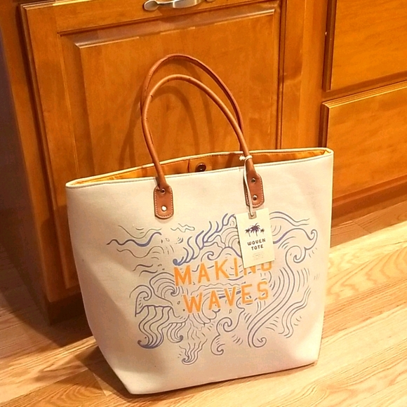 Making Waves Large Woven Tote